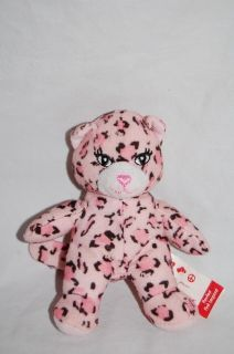 2009 Build A Bear Workshop Pawfect Pink Leopard Plush Cat