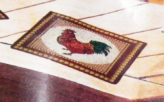 new rooster tapestry placemats country chicken brown