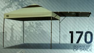 Summit Instant Canopy S170 Oliver / Brown 10 x 10 gazebo plus side