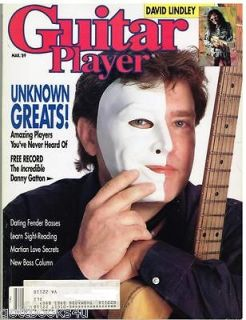Guitar Player Magazine (March 1989) Unknown Greats / David Lindley