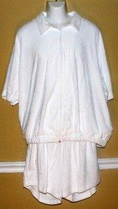 Bullock Jones Rib Knit Terry Short Sleeve Jacket Shorts XXL Mens Big