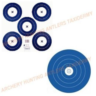 Official 2 Sided   5 SPOT INDOOR Archery Tag Paper TARGET FACE #1541