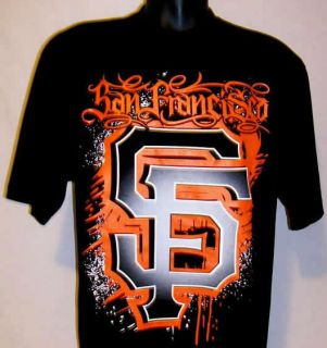 SF San Francisco Giants Graffiti T Shirt Black XL 2XL