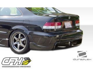 FRP Honda Civic 2dr 4DR JDM Buddy Rear Bumper Kit Auto Body 1 PC 96 00