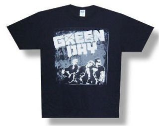 GREEN DAY   TOUR 2010 GREY WALL BLACK T SHIRT   NEW ADULT LARGE L