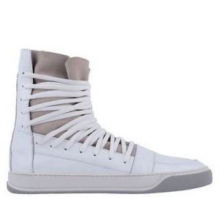 antony morato suede detail hi top trainer in white more options