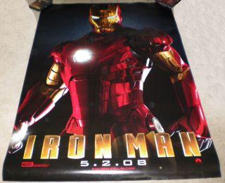 Iron Man Movie Poster 2 Sided Original Bus Stop 48x72