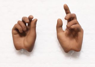 Hot Toys Michael Jackson MJ Thriller 1 6 Hand Hands X2 Palms New 4