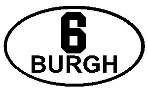 Pittsburgh Steelers 6 Burgh Oval 4 inch Sticker Decal