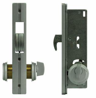 Security Sliding Door Mortise Hookbolt Lock Set with Brass Cylinders