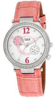 Burgi BUR045PK Swiss Diamond Classic SS Day Date Womens Watch