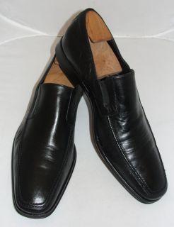 Bruno Magli Black Leather Toe Loafer Raging 13 D