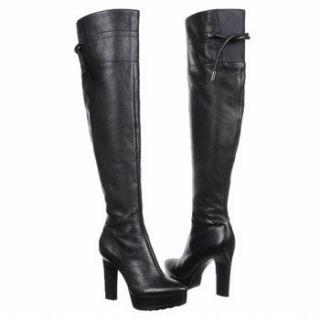 Calvin Klein Brynn grained Leather OTK Sexy Tall Platform Boots