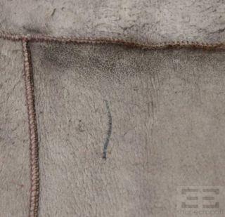 Brunello Cucinelli Brown Cashmere Sheared Fur Wrap Top Size US Medium