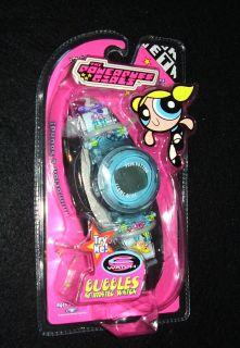 RARE 1999 Powerpuff Girls Electronic Bubbles Animated Talking Watch