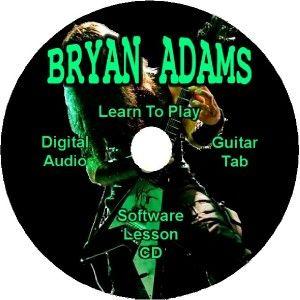 bryan adams guitar tab lesson software cd 26 songs