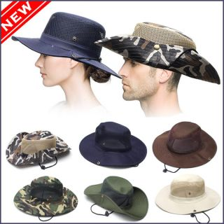 Outdoor Fishing Hiking Military Army Jungle Bucket Mens Womens Cap Hat