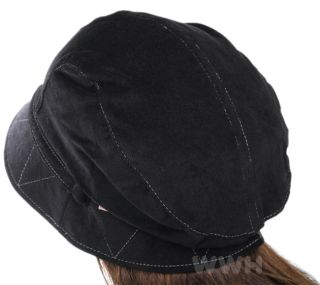 Chic Fashion Lady Bucket Hat Newsboy Cap Black BK3099D