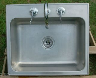 Single Used Just Stainless Steel Sink