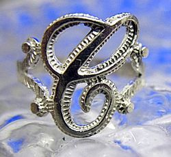 Real Sterling Silver 925 Letter Initial C Ring Jewelry