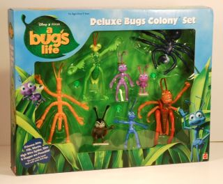 Disney Pixar A Bugs Life Deluxe Bugs Colony Action Figures Set MISB