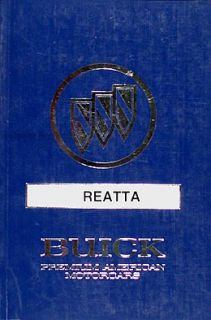1990 Buick Reatta Owners Manual 90 Mint Original Owner Guide Book
