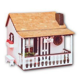 Kids Wooden 1 Room Dollhouse Building Kit Affordable Wood Doll House