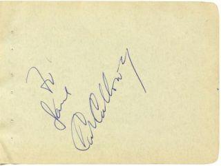 CAB CALLOWAY VINTAGE 1930s ORIGINAL SIGNED ALBUM PAGE AUTOGRAPHED