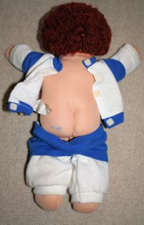 1985 Cabbage Patch Kids Doll Boy Brown Curly Hair Free