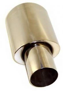 Car 2 5 in 4 5 Out T304 Stainless Steel Exhaust Tip