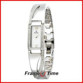 Bulova Ladies Crystal Mother of Pearl Dress Watch 96T63