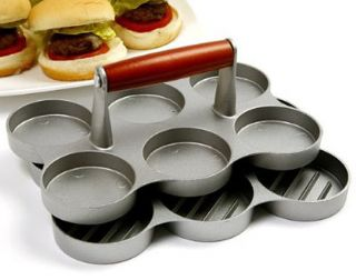 Norpro MINI BURGER PRESS 6 2OZ SLIDERS   NEW 513