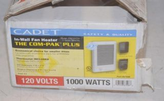Cadet CSC101TW in Wall Fan Heater The com Pak Plus