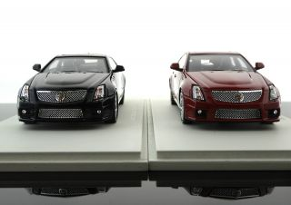 Collectibles Set of 2 2011 Cadillac cts V Coupe Black Wagon Red