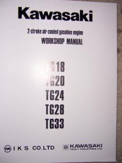 Kawasaki Shop Manual TF22 Gas Engine TG18 TG20 TG24 B