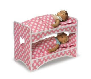 Doll Case with Bunk Bed Bedding Travel Case Pink 4 American Girl Doll