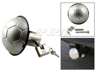 Bully s s 3D Soccer 1 25 2 Trailer Hitch Receiver Cover w Lock SUV