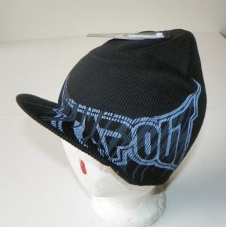 TAPOUT MMA UFC CAGE FIGHT BOXING LARGE SIDE LOGO BEANIE CAP BLACK