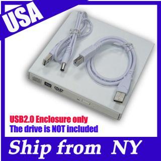 USB External IDE DVD Burner Drive Enclosure Caddy Case