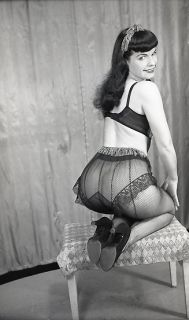 Vintage Red Lacy 1950s Panties Panty All Nylon Bubble Butt Full