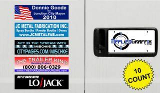 10 Custom Vinyl Bumper Stickers Laminated Your Company Logo or Design