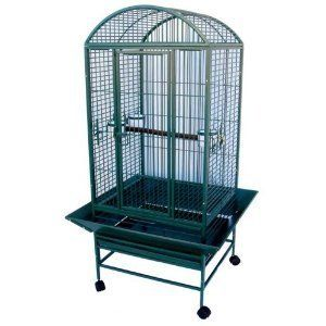 New Large Wrought Iron Bird Cage Parrot Cages Macaw Dome Top 0652