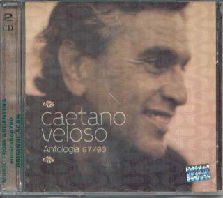 CAETANO VELOSO, ANTOLOGIA 67 03   2 CDs SET. FACTORY SEALED. .