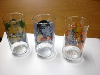 1977 Burger King Star Wars Glasses Darth Vader Chewbacca R2 D2 C3PO