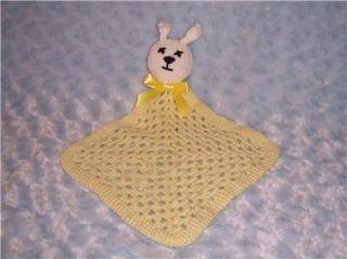 Easter Bunny Crochet Baby Blanket 4 Reborn Baby Shower Gift or Lee