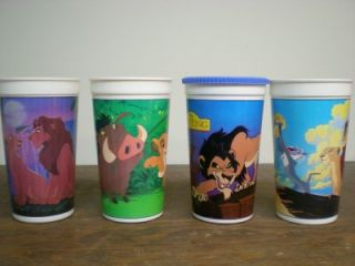 burger king disney s lion king cups very nice 1994