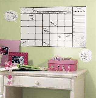 Dry Erase Calendar Wall Decal with Marker Movable