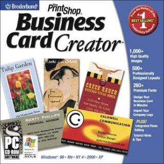 Printshop Business Card Creator Print Shop New for PC XP Vista SEALED