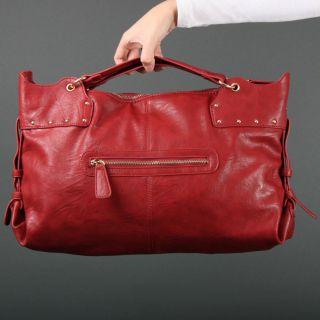 Burgundy Dark Red Flat Cross Body Shoulder Bag Satchel Handbag Purse