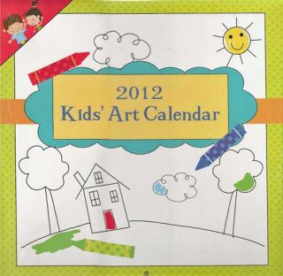 2012 Kids Art Wall Calendar A Fun & Functional Learning Aid Makes it